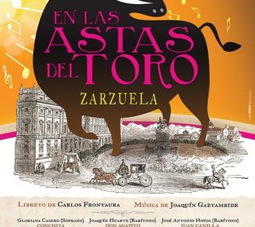 Diseño gráfico de Cartel En las Astas Pamplona Navarra