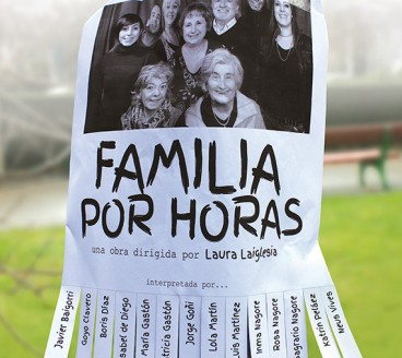 Diseño gráfico de Cartel Familia por horas Pamplona Navarra