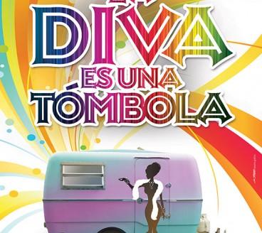 Diseño gráfico de Cartel La Diva Pamplona Navarra