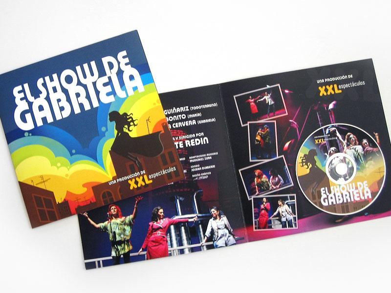 Diseño de dossier de producción El Show de Gabriela, para XXL Espectáculos, Pamplona, Navarra