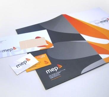 Diseño gráfico de Papelería MEP Pamplona Navarra