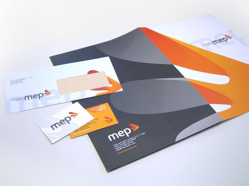 Diseño de papelería MEP de Pamplona, Navarra