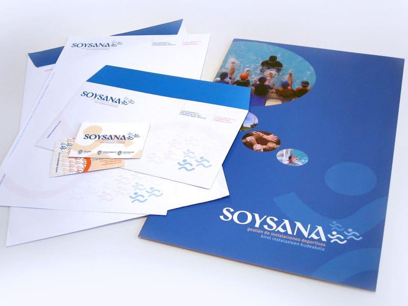 Diseño de papelería Soysana de Pamplona, Navarra
