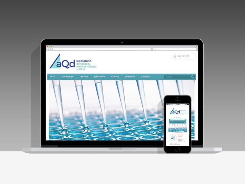 Diseño Página Web AQD Pamplona Navarra