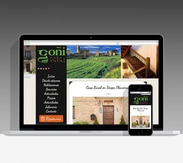 Diseño Página Web Casa Goñi Pamplona Navarra