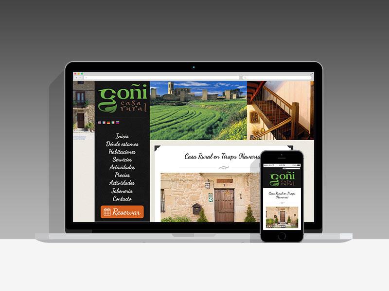 Página web Casa rural Goñi, Navarra