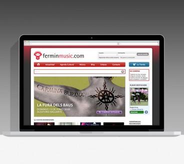 Diseño Página Web Ferminmusic Pamplona Navarra