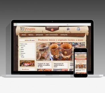 Diseño Página Web MilArtesanos Pamplona Navarra