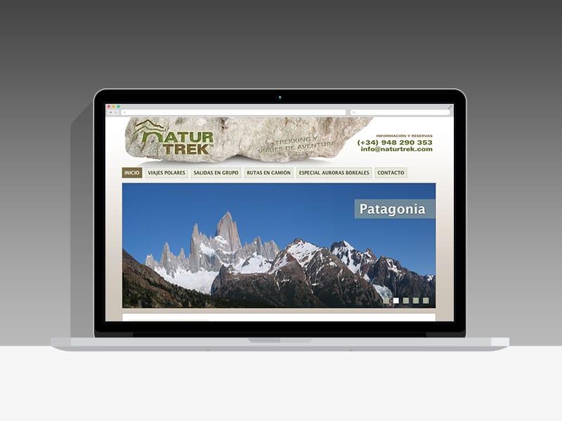 Diseño Página Web Naturtrek Pamplona Navarra