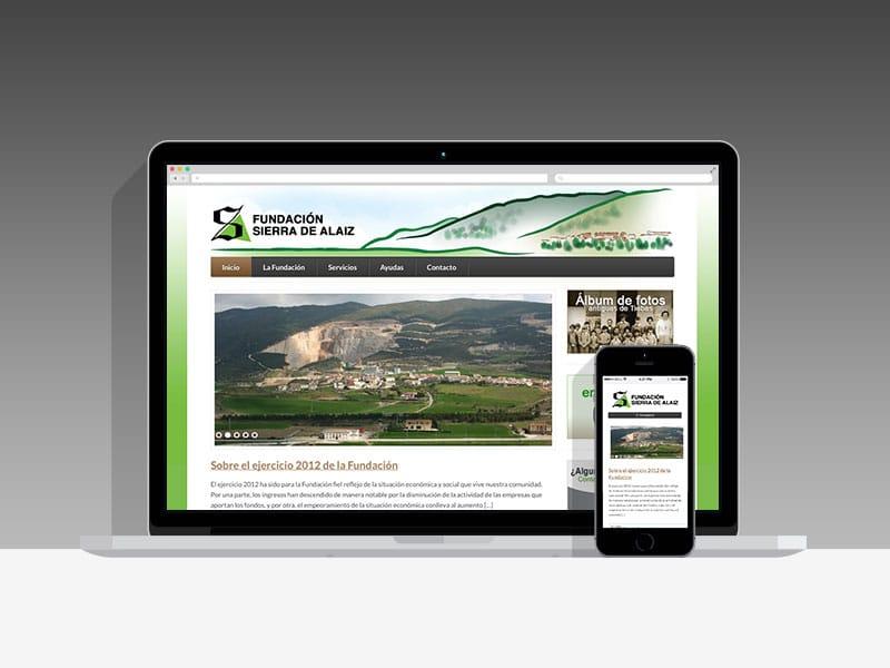 Página web Fundación Sierra de Alaiz, Navarra