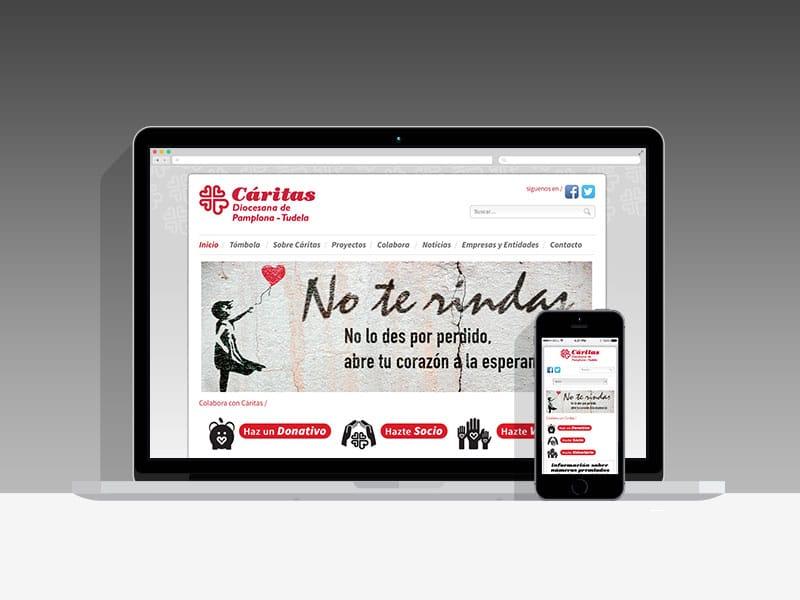 Página Web De Cáritas Pamplona - Tudela (Navarra)