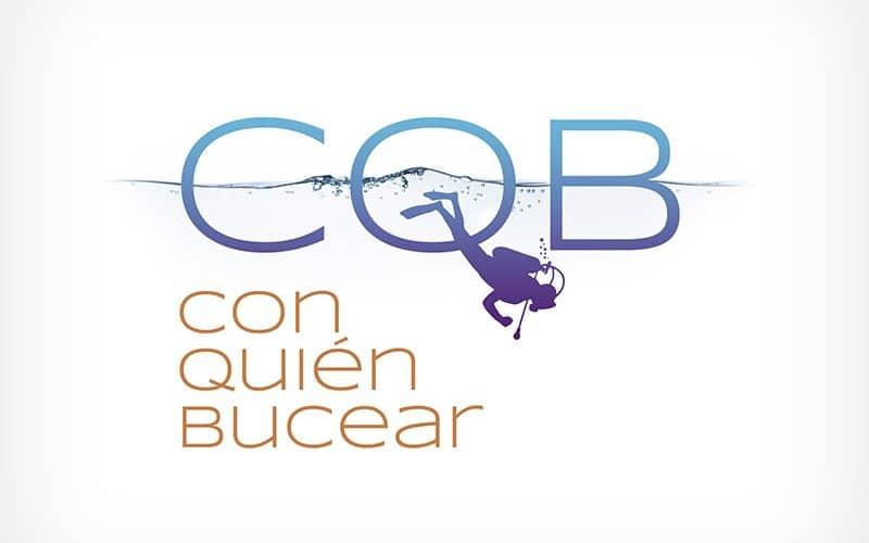 Diseño Gráfico De Logotipo CQB Con Quién Bucear Pamplona Navarra