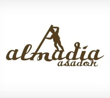 Diseño gráfico de Logotipo Asador Almadía Pamplona Navarra