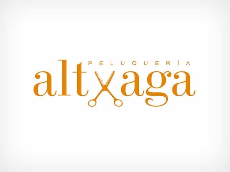 Diseño Gráfico De Logotipo Peluquería Altxaga Pamplona Navarra