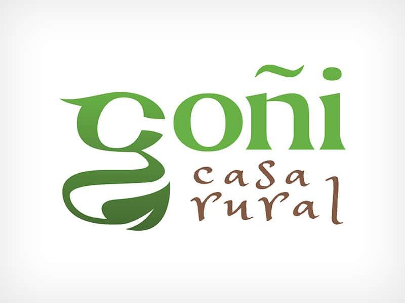 Diseño Gráfico De Logotipo Casa Rural Goñi Navarra