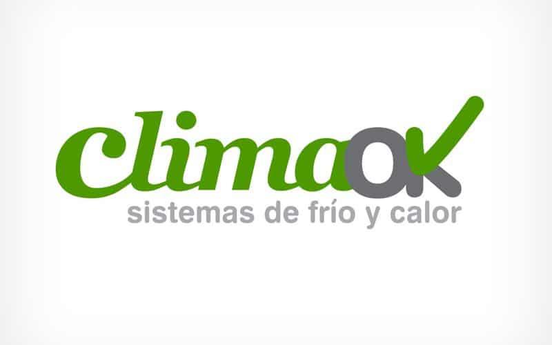 Diseño Gráfico De Logotipo ClimaOK Pamplona Navarra