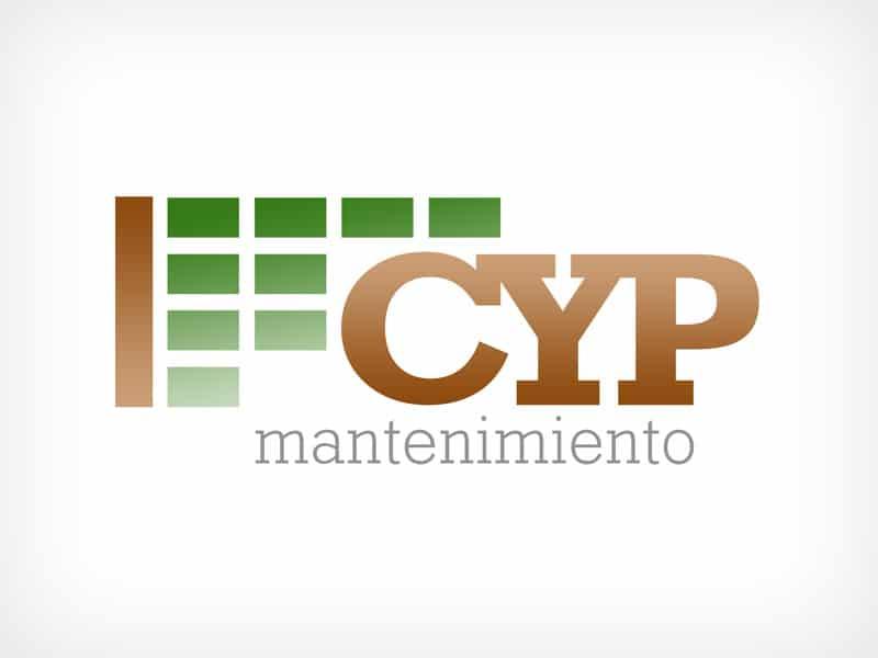 Diseño Gráfico De Logotipo CYP Mantenimiento Pamplona Navarra