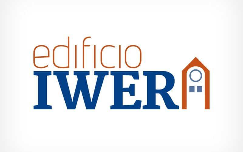 Diseño Gráfico De Logotipo Edificio IWER Pamplona Navarra