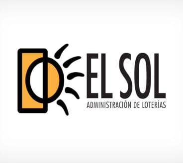Diseño gráfico de Logotipo Loterías El Sol Binéfar Huesca Zaragoza