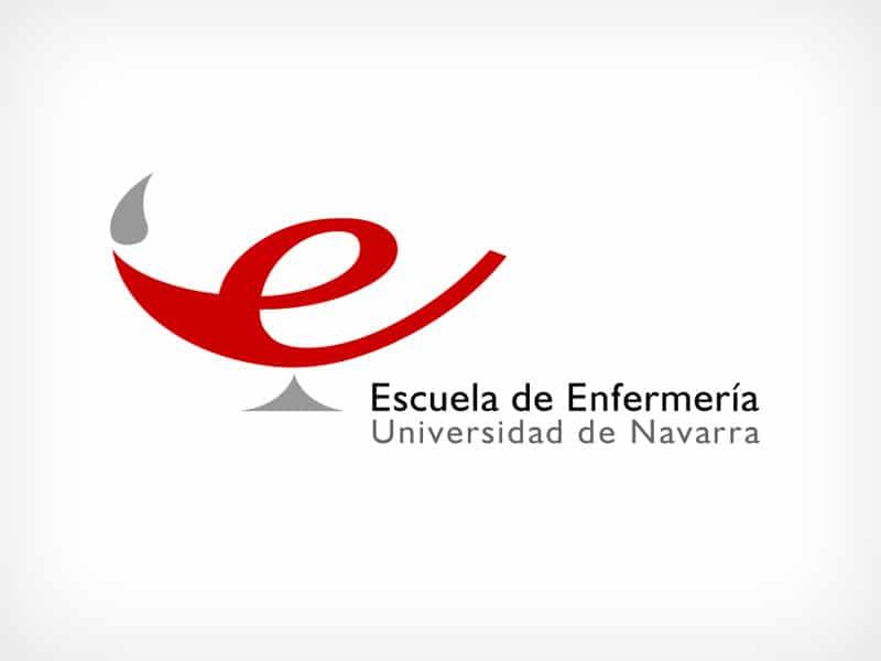 Diseño Gráfico De Logotipo Escuela Enfermería Universidad De Navarra Pamplona