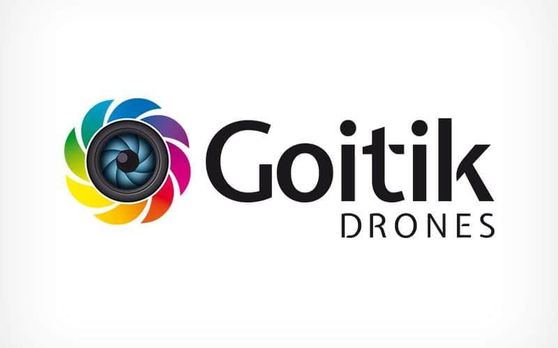 Diseño Gráfico De Logotipo Goitik Drones Pamplona Navarra