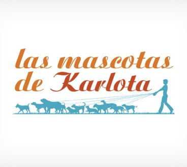 Diseño gráfico de Logotipo Las Mascotas de Karlota Pamplona Navarra