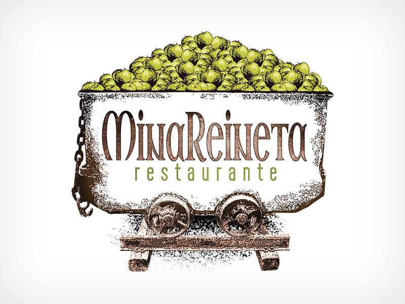 Diseño Gráfico De Logotipo Restaurante MinaReineta Becedas Ávila