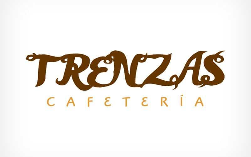 Diseño Gráfico De Logotipo Cafetería Trenzas Pamplona Navarra
