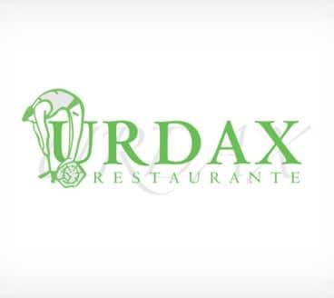 Diseño gráfico de Logotipo Restaurante Urdax Pamplona Navarra