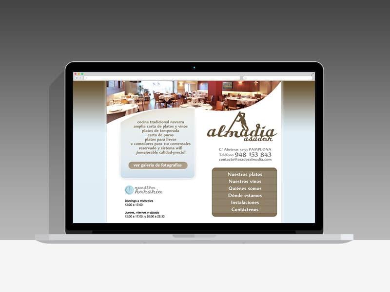 Diseño Página Web Asador Almadía Pamplona Navarra