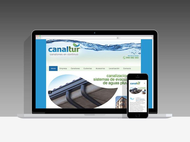 Diseño Página Web Canaltur Pamplona Navarra