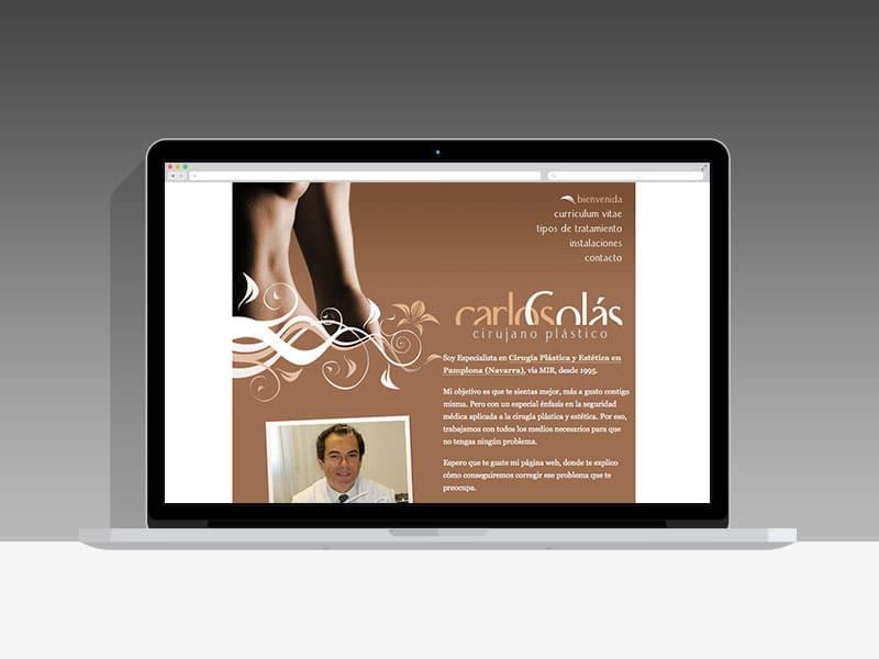 Diseño Página Web Carlos Colás Pamplona Navarra