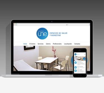 Diseño Página Web CentroUNE Pamplona Navarra