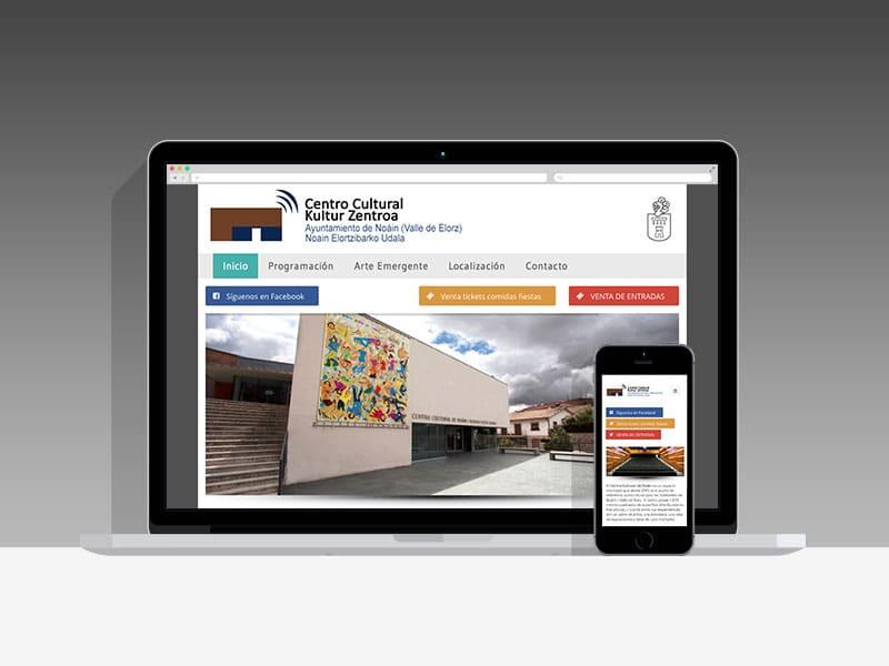 Diseño Página Web Cultura Noáin Pamplona Navarra