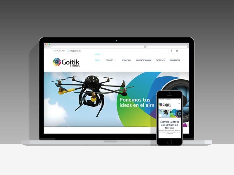 Diseño Página Web Goitik Pamplona Navarra
