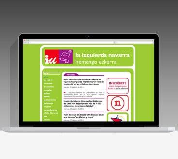 Diseño Página Web IUN-NEB Pamplona Navarra