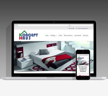 Diseño Página Web KonceptHaus Pamplona Navarra