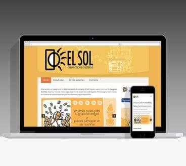 Diseño Página Web Loterías El Sol Pamplona Navarra