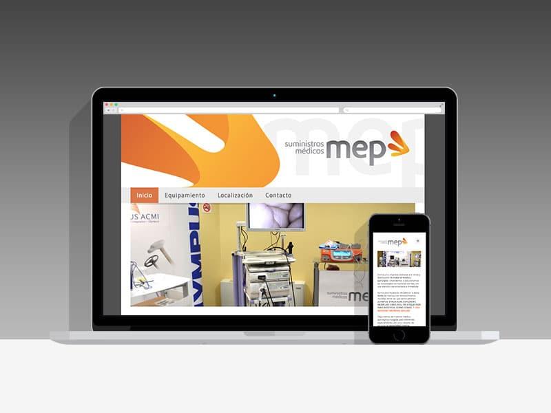 Diseño Página Web MEP Pamplona Navarra