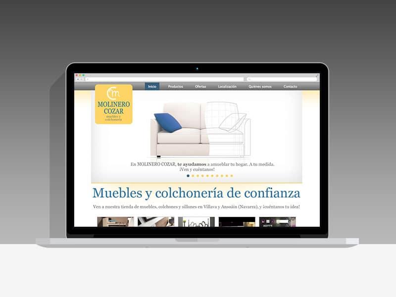 Diseño Página Web Molinero Cozar Pamplona Navarra
