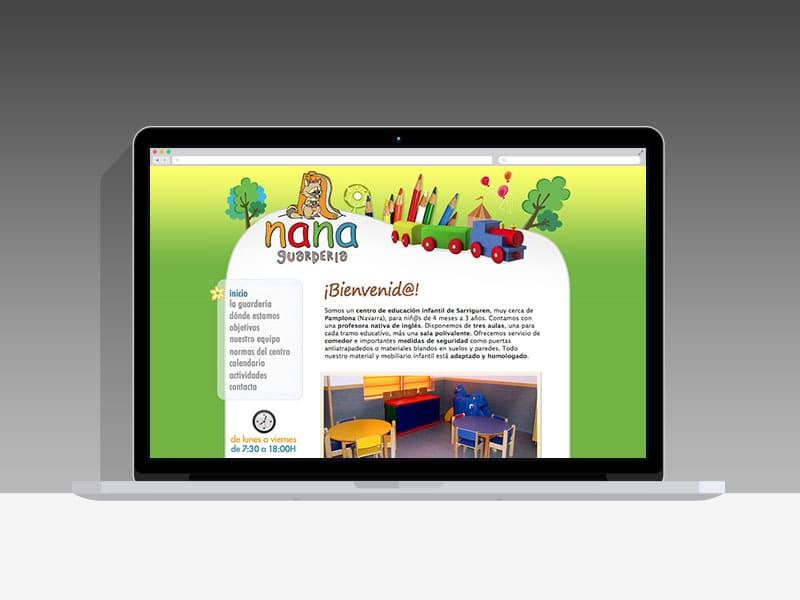 Diseño Página Web Nana Pamplona Navarra