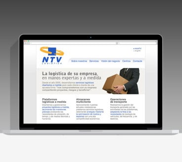 Diseño Página Web NTV Pamplona Navarra