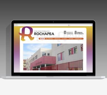 Diseño Página Web Colegio Rochapea Pamplona Navarra