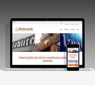 Diseño Página Web Rotmark Pamplona Navarra