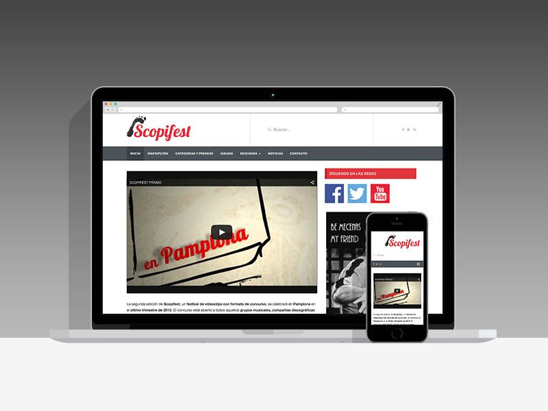Diseño Página Web Scopifest Pamplona Navarra