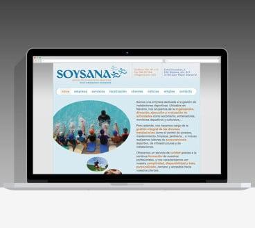 Diseño Página Web Soysana Pamplona Navarra