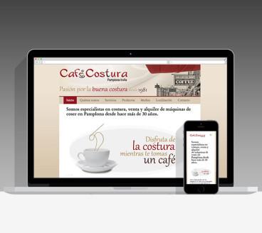 Diseño Página Web Café Costura Pamplona Navarra