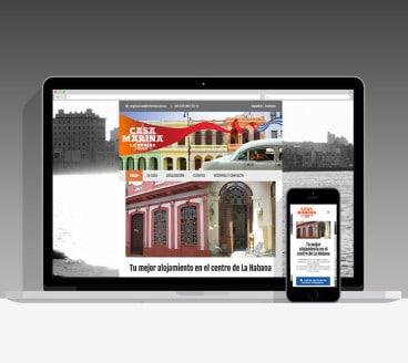 Diseño Página Web Casa Marina Pamplona Navarra