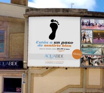 Diseño Gráfico Publicidad Aquabide Pamplona Navarra