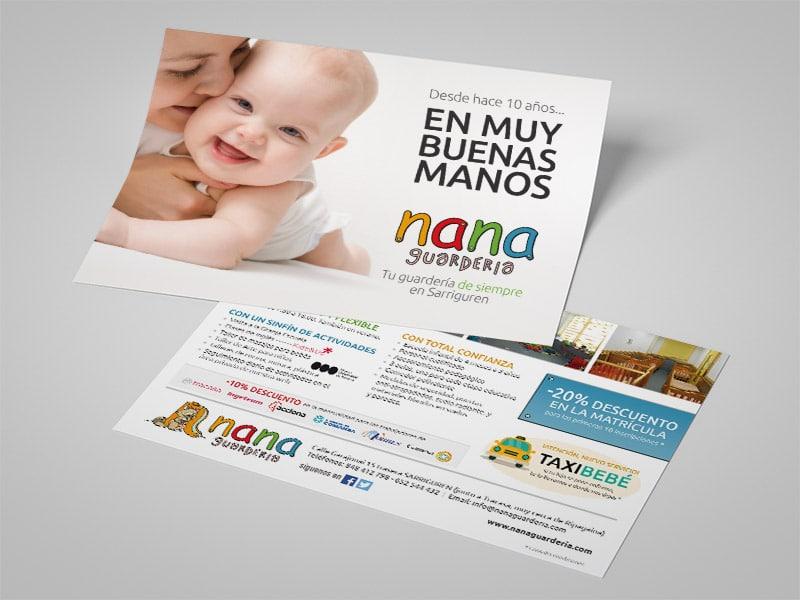 Diseño de folleto Guardería Nana, Pamplona / Sarriguren, Navarra